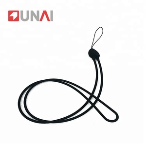 Chromatic Cute Heart Shape Round Cord Neck Silicone Lanyard For Phone