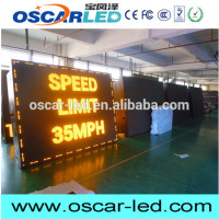 Bank rates screen indoor dual/single color led moving message sign / currency exchange rate board display