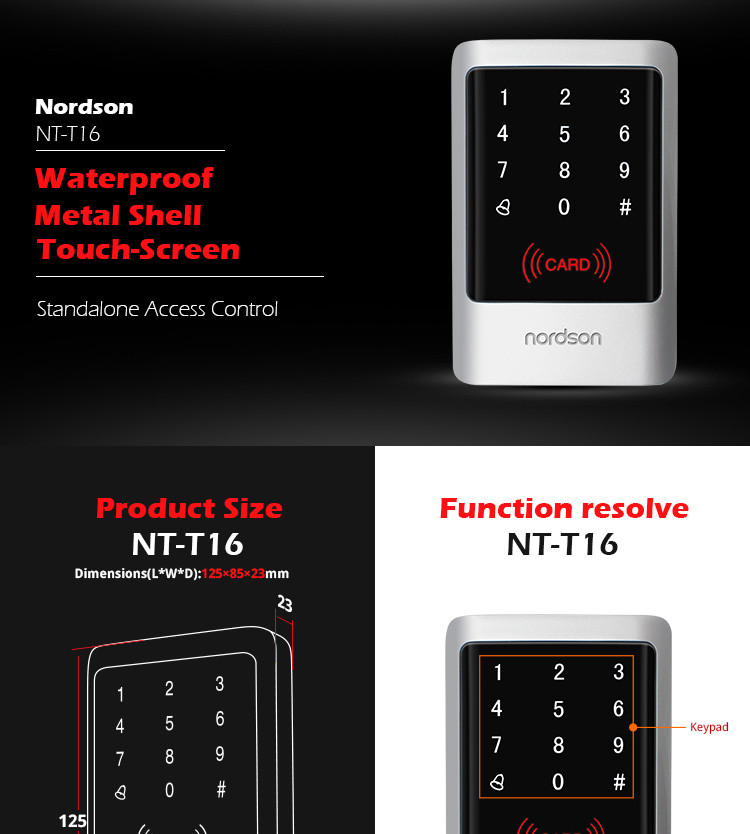 Door Enclosure Keypad Rfid Card Lock Access Control System
