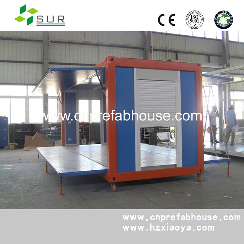 China quick build movable prefab container house(Container shop)