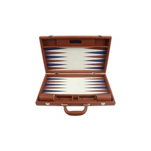 Cuoio backgammon board game set