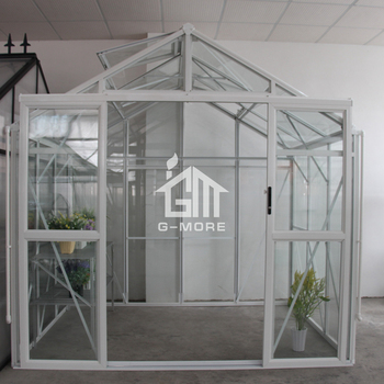 G-MORE Premium Imperial Series, 8'x6', Aluminum Profile + Glass, Super Strong DIY Glasshouse (GM34403-W)