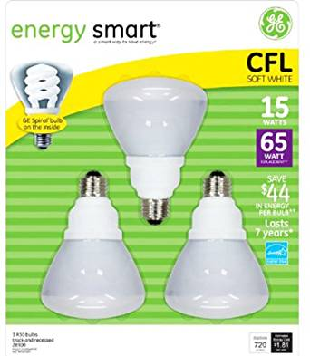 Get Quotations GE Long Life CFL 15W 65W Equiv Flood Bulbs X3