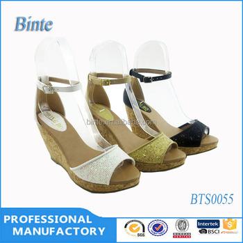 Pu Girls Latest High Heel Sandals,Sexy Wedge Ladies Shose