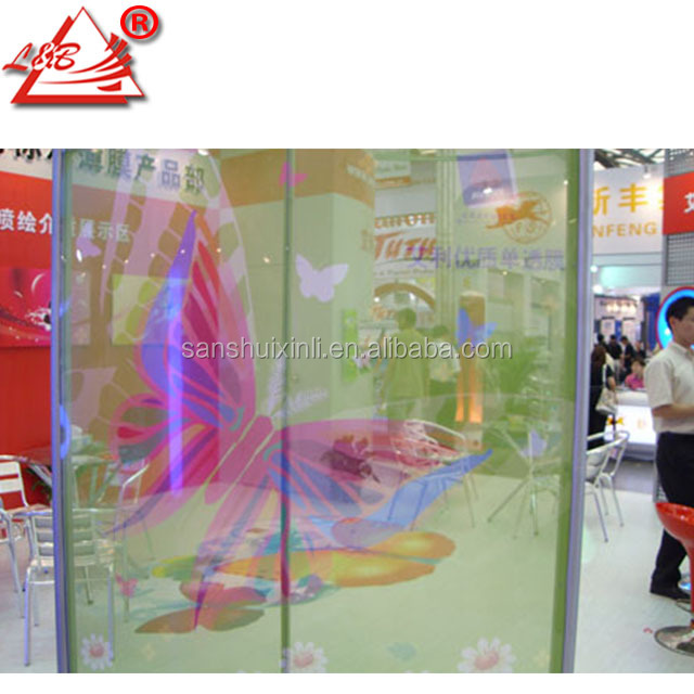 ECO Solvent Printed Translucent PVC Glass Window Decoration Film