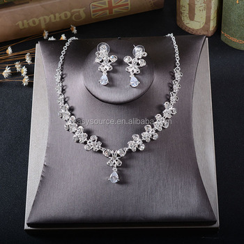 Cheap CZ stone Jewelry Wedding Bridal Necklace Earring Set Women Party Evening Jewelry & Cheap Cz Stone Jewelry Wedding Bridal Necklace Earring Set Women ...