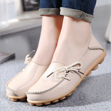 DL10227B 2018 ladies flat casual leather shoes women loafer shoes