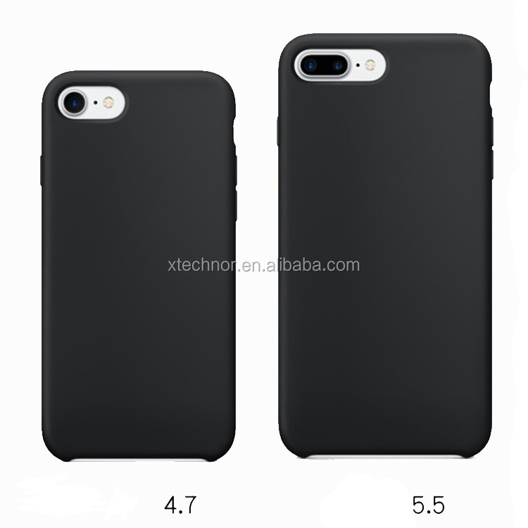 2017 New Liquid Silicone Rubber Mobile Phone Case for iphone 7 plus Original Back Cover With Logo