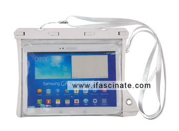 Smart travel Big transparent window dry bag for new ipad