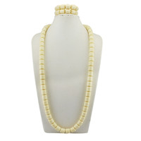 2018 Hot sale African Beads Jewelry Sets ivory white With Flowers Nigerian Jewellery Set For men/women 2018 Wedding Jewelry Sets