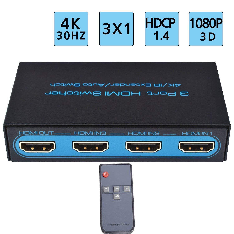 e07e1e7bd5c56 Buy EZCOO 4K HDMI Switch 3x1,HDMI 2.0 4K 60Hz HDR HDCP 2.2 Switcher ...