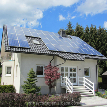 5 kw whole house on grid solar power system home with TUV ISO CE