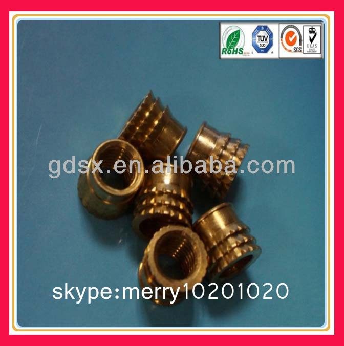 brass knurled insert nut/self tapping threaded inserts oem insert nut