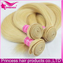 6A Top Grade Exclusive And Unique Double Weft Silk Straight 100% Virgin Russian 613 blonde hair weave