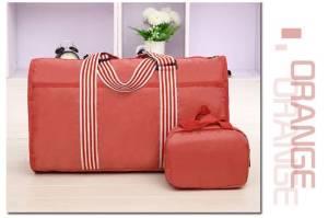 Orange Men Women Travel Hand Luggage Shoulder Bag Sports Gym Bag Weekend Overnight Bag