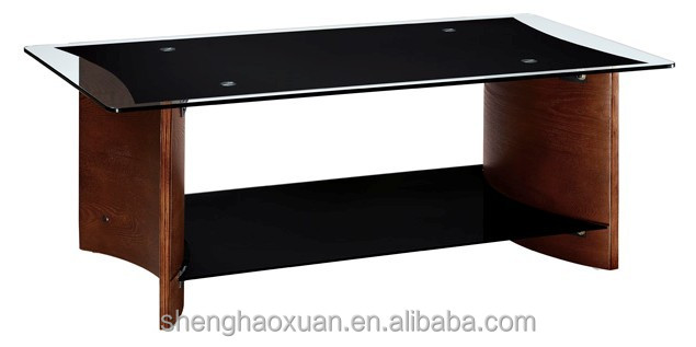 Hot Selling Home Furniture Center Tables Design Solid Wood Coffee Tables With Glass Top View