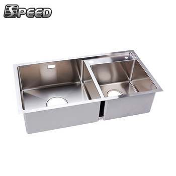 Hot Sell Countertop Handmade Fabricated Sink Stainless Steel Kitchen