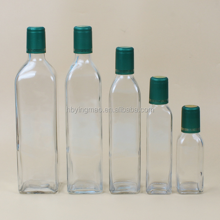 YM 100ml 250ml 500ml 750ml 1000ml clear glass cooking olive oil bottles