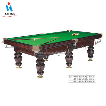 Good Quality 8ft 9ft Slate Steel Cushion K55 Rubber Billiard Tables For Sale