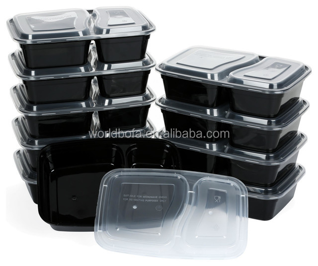 Microwave Meal Prep Containers for Weight Loss 2 Compartment Bento boxes