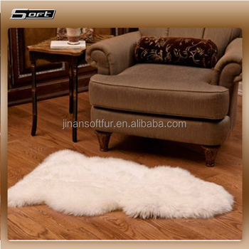 Medium Quality Plush Wool Pile Feature Low Price Whole Sheepskin Rug