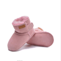 Lovely Winter Warm Baby sheepskin lambskin Shoes Infant Toddler Baby Boys Girls Boots booties Soft Newborn Bebe First