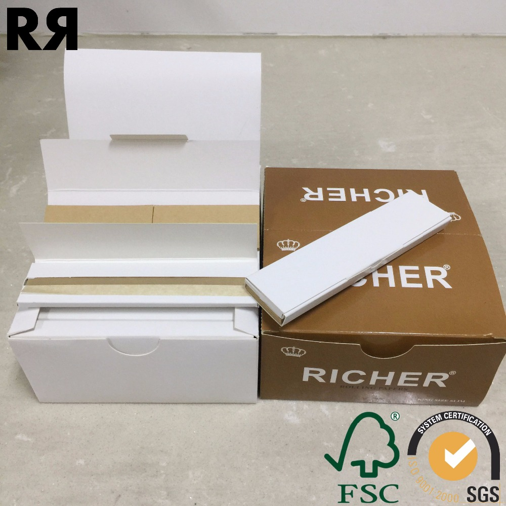 Richer 14gsm Natrual Organic Hemp Cigarette Smoking Rolling paper with tips