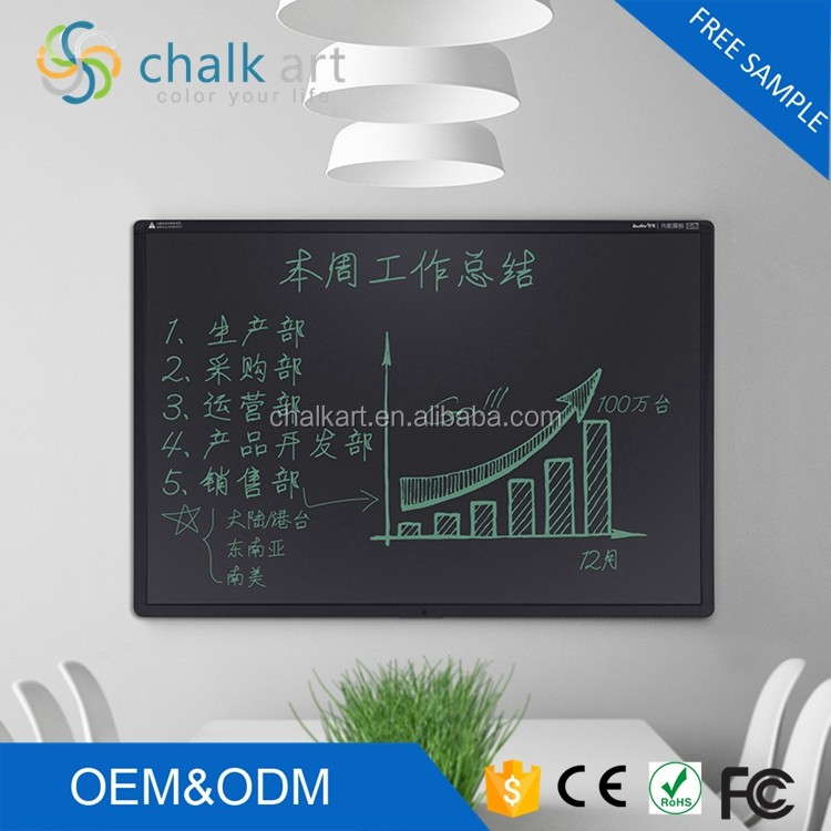 New arrival no dust 57 inch LCD light drawing writing digital blackboard electronic magnetic blackboard