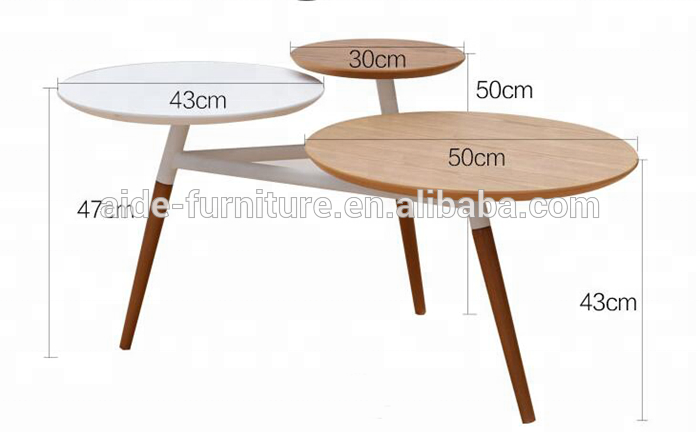 Italian design round wooden coffee table modern