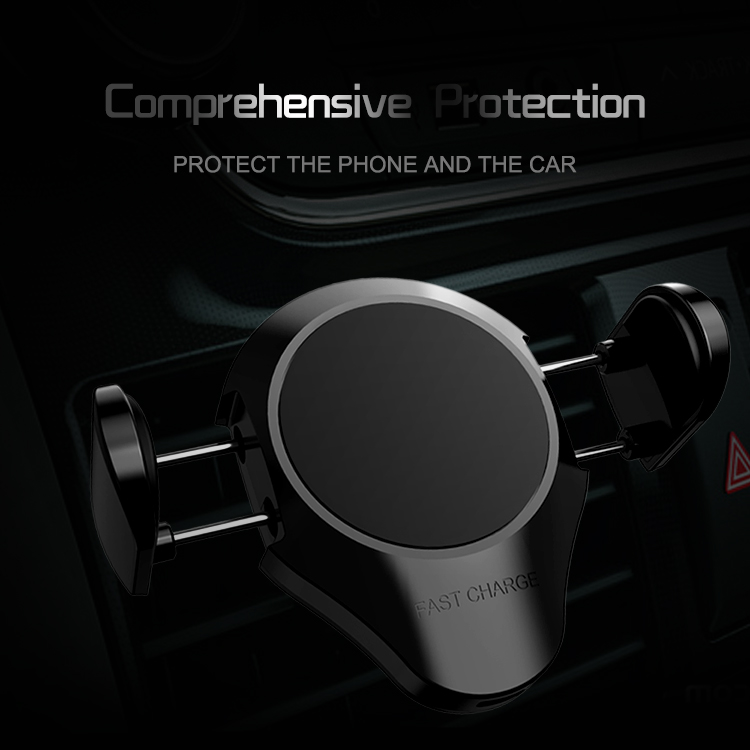 New design qi standard usb cell phone wireless car charger for iphone