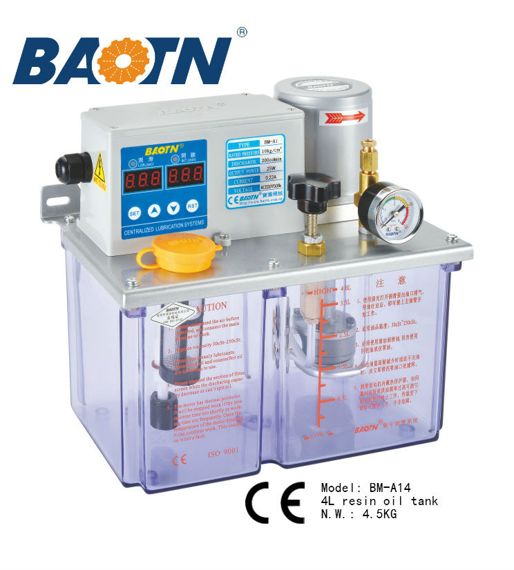 China suppliers BAOTN electric 12V oil gear pump hydraulic pump central lubrication system dispenser pump for lathe cnc