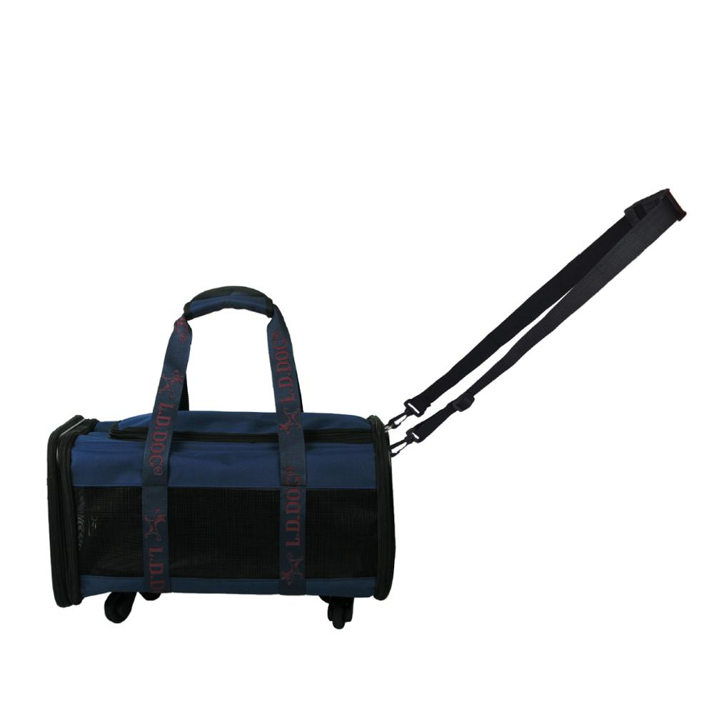 Groothandel Luxe Opvouwbare Vier-Wiel Huisdier Draw-Bar Dog Carrier