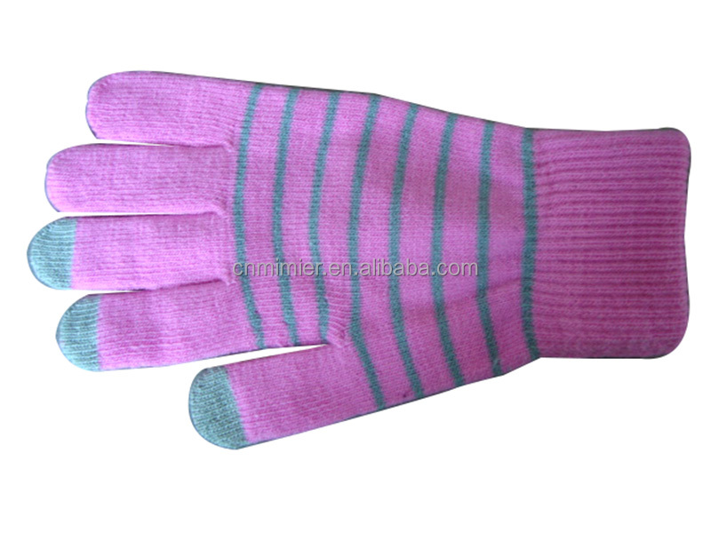 Lady 2 Fingers Warm Touch Screen Glove Winter Knitted Gloves