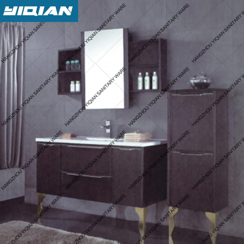 Low price Fashion Melamine bathroom cabinet with legs floor mounted bathroom storage furniture