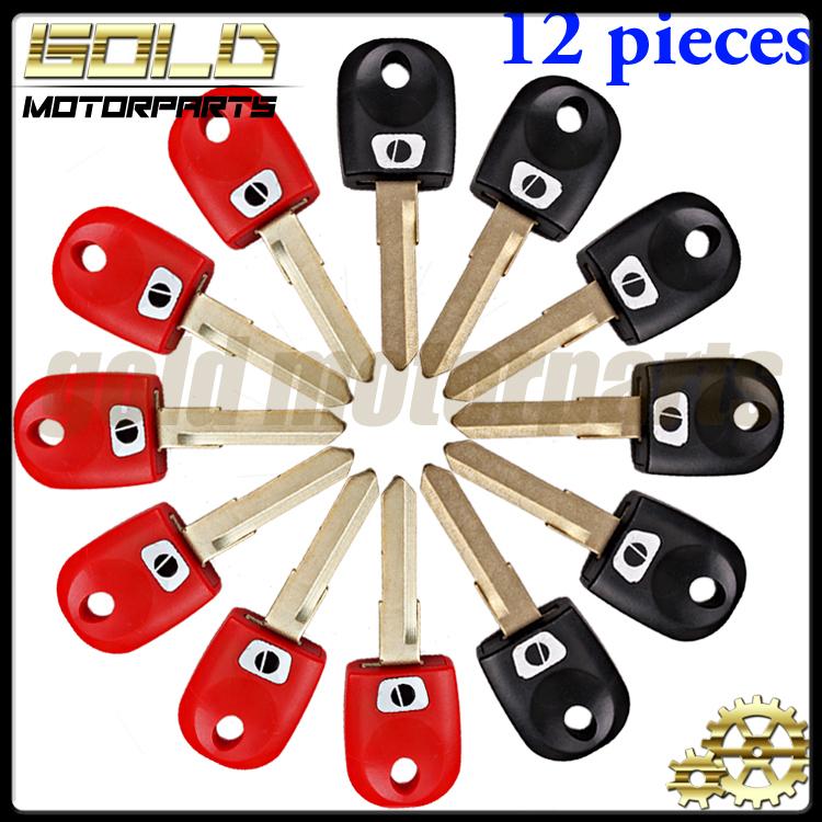 12 шт. черный и красный одноместный корыта ключ для Ducati 696 600 748 848 999 1098 800 900 620 мотоцикл пустой ключ с лезвием