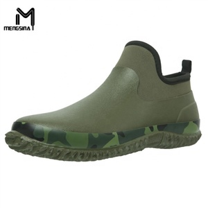 Fashion Women's Rain Boots Men's Garden Shoes Low Short Shoes Ankle Car Wash Footwear Outdoor