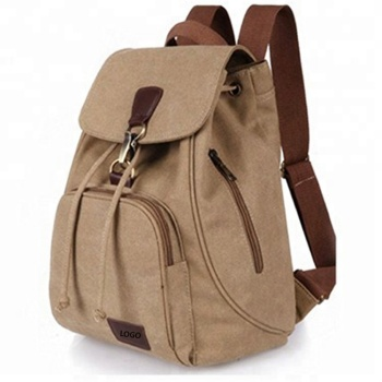 Wholesale durable travel backpack vintage canvas backpack