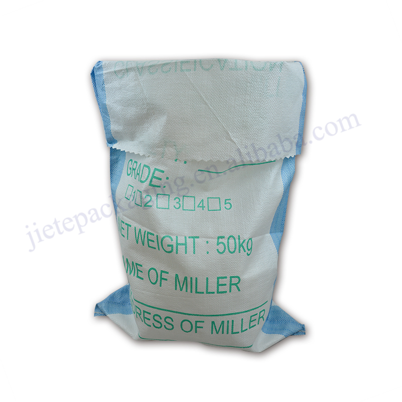 Wholesale 50kg durable white PP woven wheat flour bag for grain,rice,seed,corn,bran