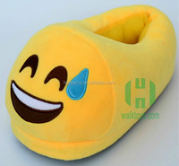 HI CE emoji plush indoor slippers winter home shoes house shoes unisex warm soft slippers