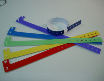 vinyl identification wristbands for entertainment/security use
