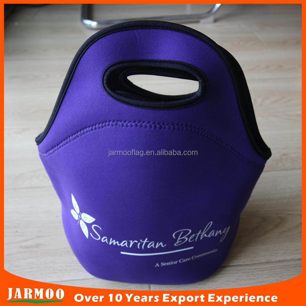 Custom printed various design neoprene lunch bag
