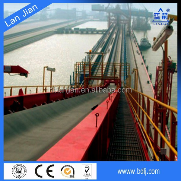 China manufacturer long distance transportation used rubber steel flat wire conveyor belt price