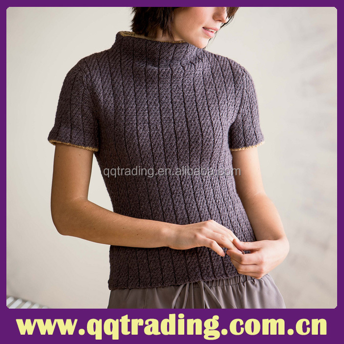 Top quality knit factory elegant China OEM cashmere sweater for old women