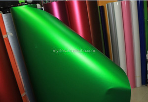 Chrome Ice Matte Green Vinyl Car wrap Film / Matte chrome 3m sticker/ car or bus body sticker design