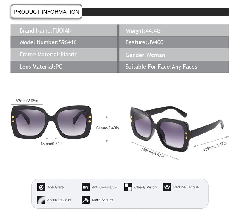 Fuqian lady women's metal sunglasses manufacturers for racing-7