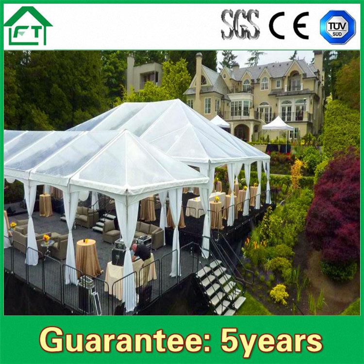 מפואר זול אוהל מסיבת חתונה עמיד למים אוהל בדואי למכירה כיסוי PVC לבן ZV-05