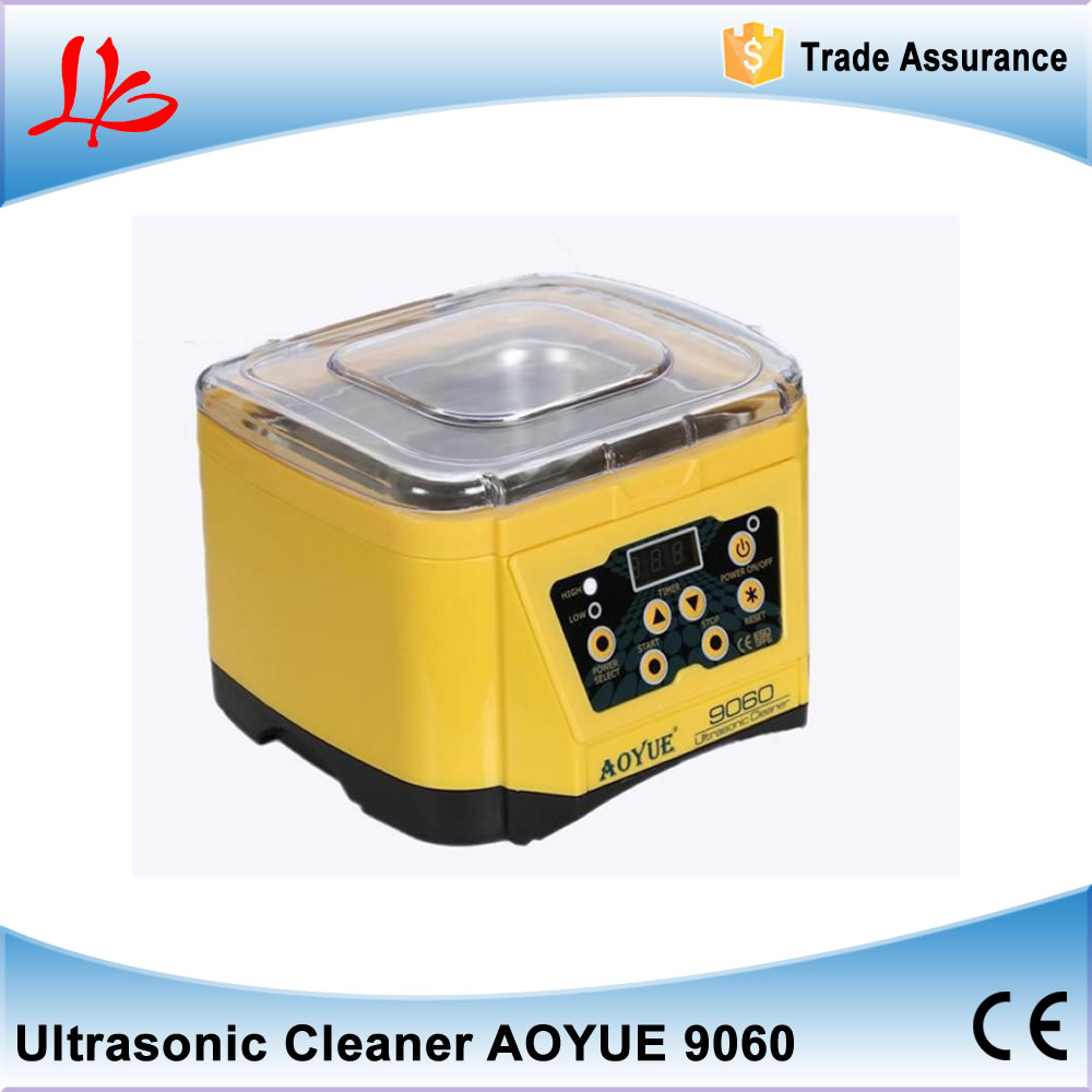 high quality !desktop digital ultrasonic cleaner /washing machine AO YUE 9060 for cleaning jewelry