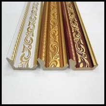 1meter Ceiling Decorative Moulding Pu Material White With Gold Paint Crown