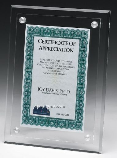 acrylic clear cheap a4 certificate holder for diploma or