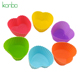 Heart shape mini cupcake mold silicone cake mould